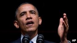 奥巴马总统4月10日在约翰逊总统图书馆发表讲话
