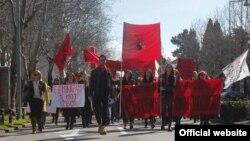Učesnici Osmomartovskog marša u Crnoj Gori