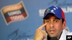 El líder opositor Henrique Capriles no cree que el Tribunal Superior de Justicia acept la impugnación que él presentó.