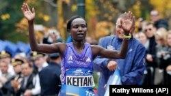 Mary Keitany kényane remprte le marathon de New York, 1er novembre 2015