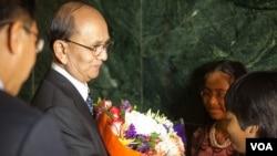 缅甸总统吴登盛5月19号访问美国之音总部