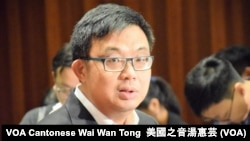 香港民主黨立法會議員涂謹申 (攝影:美國之音湯惠芸)