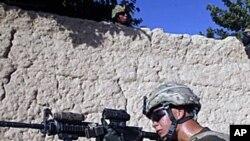 美國部隊在阿富汗執行任務
