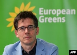 """FILE- European Greens co-lead candidate Bas Eickhout, pictured in Brussels on March 6, 2019, spoke May 25 of a """"green wave"""" rolling on to Irish shores from the Netherlands."""
