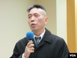 台湾淡江大学整合战略科技中心执行长苏紫云 (美国之音张永泰拍摄)
