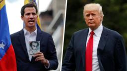 Lãnh đạo đối lập ở Venezuela, Juan Guaido (trái); Tổng thống Mỹ Donald Trump (phải)
