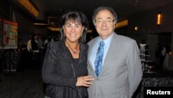 Honey and Barry Sherman, Chairman and CEO of Apotex Inc., are shown at the annual United Jewish Appeal (UJA) fundraiser in Toronto, Ontario, Canada,