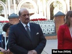 印度大使马尔霍特拉(美国之音白桦拍摄)