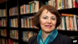 FILE - This undated photo made available by Amanda Ghahremani, shows retired Iranian-Canadian professor Homa Hoodfar.