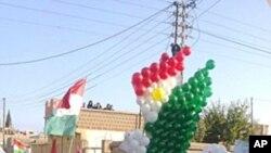 2011年11月6号叙利亚民众在大马士革附近举行反政府游行