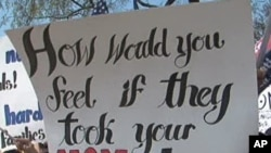 واشنگٹن میں امیگریشن کے حامیوں کا مظاہرہ