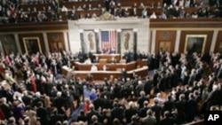 취임선서를 하는 미국의 의원들 (자료사진)