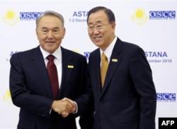 Prezident Nazarboyev BMT Bosh kotibi Pan Gi Mun bilan