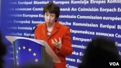 Kepala Kebijakan Luar Negeri Uni Eropa, Catherine Ashton mengecam serangan pasukan Suriah sebagai 'kekerasan yang kejam'.
