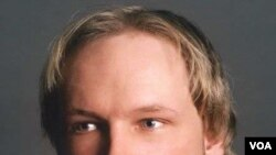 Tersangka pelaku pembantaian massal di Norwegia, Anders Behring Breivik, usia 32 tahun.