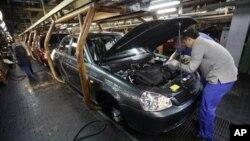 러시아의 자동차 제조공장. (자료사진)