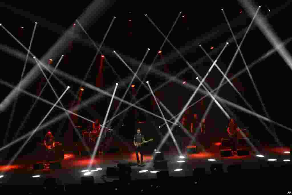 Sting performs at the Auditorio Nacional in Mexico City, May 17, 2017.