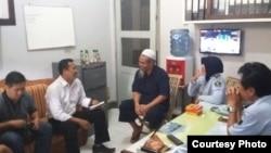 Abu Tholut bebas bersyarat dari Lapas Semarang. (Foto: dok Humas LP Kedungpane)