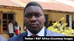 """Le réalisateur Gaël Mpoyo a fui la ville de Bukavu après la diffusion du documentaire """"Mbobero: la raison du plus fort est toujours la meilleure"""" ; ici sur une photo publiée le 18 juillet 2018. (Twitter/RSF Africa)"""