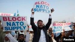 پشاور میں ڈرون حملوں کے خلاف احتجاجی مظاہرہ