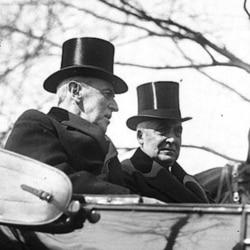 Woodrow Wilson and Warren Harding during Harding's inauguration