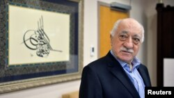 U.S. based cleric Fethullah Gulen at his home in Saylorsburg, Pennsylvania, July 29, 2016. Turkey has issued arrest warrants for 55 people suspected of giving financial support to Gulen , who is accused of orchestrating a failed military coup in July.
