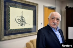 FILE - U.S. based cleric Fethullah Gulen at his home in Saylorsburg, Pennsylvania, July 29, 2016. Gulen is accused of orchestrating a failed military coup in July.