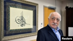 FILE - U.S. based cleric Fethullah Gulen at his home in Saylorsburg, Pennsylvania.