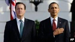 14일 워싱턴에서 정상회담을 가진 바락 오바마 미국 대통령(오른족)과 데이비드 카메론 영국 총리.