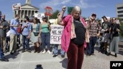 "Pristalice pokreta ""Okupiraj"" u Nešvilu, u Tenesiju"