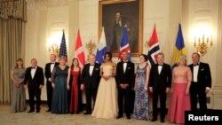 عکسهایی از ضیافت شام رهبران شمال اروپا در کاخ سفید