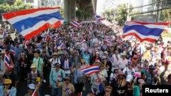 Người biểu tình Thái Lan xuống đường ở thủ đô Bangkok.