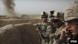 Marinir AS dalam sebuah operasi militer di dekat Musa Qaleh, provinsi Helmand Barat, Afghanistan Selatan (Foto dok. 23 Juli 2010).