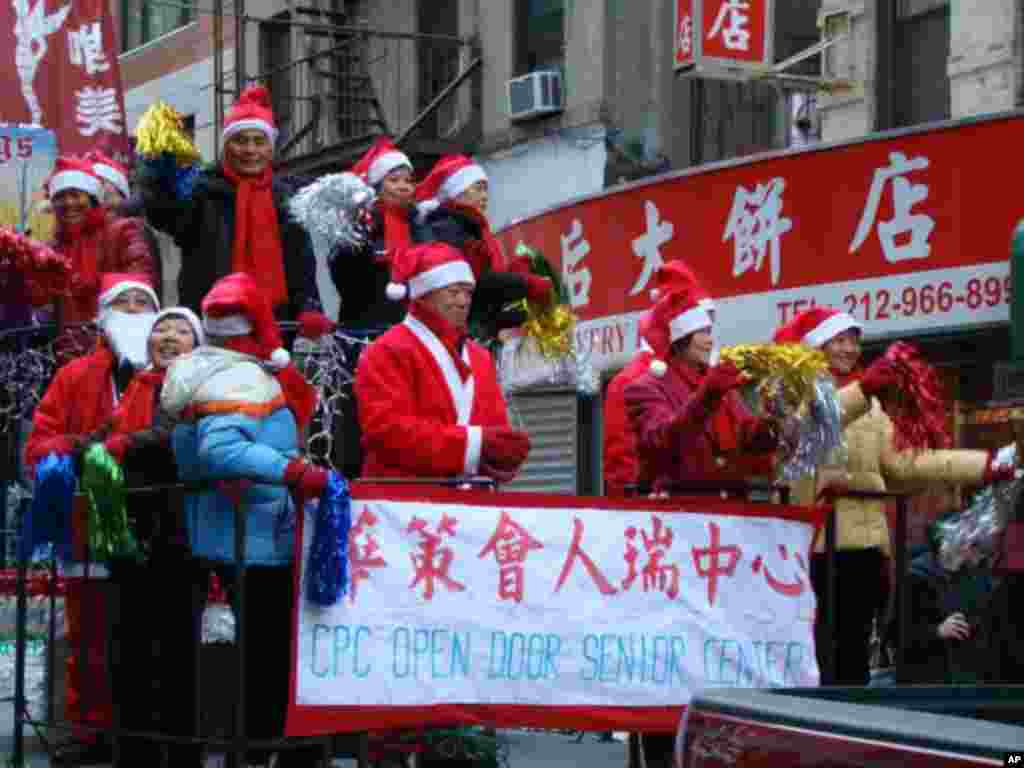 華策會老人中心的聖誕老人