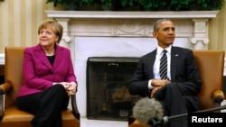 Chanceliere w'Ubudagi, Angela Merkel ari i Washington kubonana na prezida wa Amerika, Barack Obama (