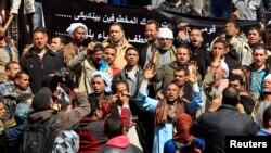 مظاهره چیانو د اسلامي دولت پر ضد د نړیوالې ټولنې د ګډې همکارۍ غوښتنه کوله.