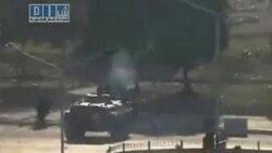 تانک های ارتش سوریه در میدان مرکزی حما مستقر شدند