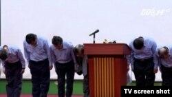 Lãnh đạo Formosa cúi đầu xin lỗi người Việt Nam vì gây ra thảm họa cá chết ở miền trung (ảnh tư liệu, cuối tháng 6/2016)