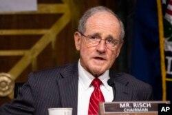 資料照:美國參議院外交關係委員會主席吉姆·裡施(Jim Risch)