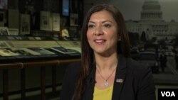 Dra. Lina Alathari, jefa del Centro Nacional de Evaluación de Amenazas del Servicio Secreto de los EE. UU., Que asesora a las escuelas y a la policía sobre cómo prevenir la violencia escolar, 12 de abril de 2019.