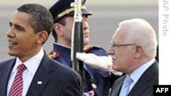 Президент Обама прибыл в Прагу