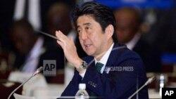 日本首相安倍晉三在橫濱宣佈日本將向非洲投資