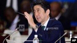 Japanski premijer Šinzo Abe govori na konferenciji o razvoju Afrike, koja se održava u Tokiju
