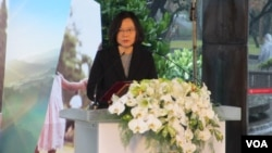 台湾总统蔡英文出席纪念228事件的活动(美国之音张永泰拍摄)