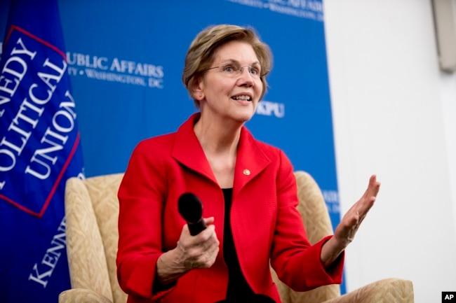 Elizabeth Warren fue una de las primeras en viajar a los primeros estados que participan en las primarias Iowa y New Hampshire.