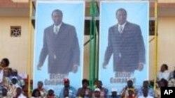 Un meeting électoral du présidentCompaoré à Ouagadougou