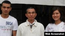 Huynh Trong Hieu (left), Huynh Ngoc Tuan and Huyn Thuc Vy