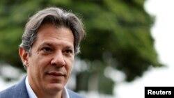 Fernando Haddad, le nouveau candidat du parti des Travailleurs, ici à Curitiba au Brésil, le 03 septembre 2018.
