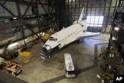发现号4月5日在佛罗里达的肯尼迪航天中心