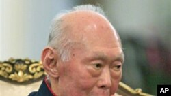 Lee Kwan Yew, founding father of Singapore, at a meeting with Kazakhstan's Prime Minister Karim Massimov, in October 2010 in Singapore.